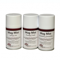 Mag Mist is an aerosol odor control spray with timed dispenser.
