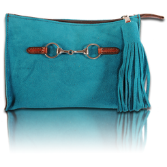 Azure suede shown here.