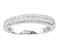 14k White Gold Wedding Band (.65CT t.w)