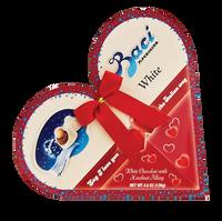 Baci Heart White Chocolates with Ribbon 4.5oz (Case of 8)