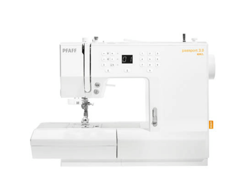 Pfaff Passport 3.0 sewing machine.  Great for small places and going places.