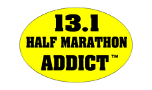 13.1 Half Marathon Addict Sticker (Yellow)