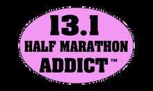13.1 Half Marathon Addict Sticker - Purple (Mauve)
