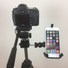 iPhone 6 tripod mount. Clamped to tripod.