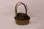 Heavy Stained Rattan Baskets (20 Pc)