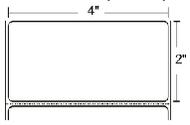10003051 Zebra Z-Perform 1000D 4x2 Paper Label 4/Case   10003051