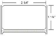 800622-125 Zebra Z-Select 4000T 2.25x1.25 Paper Label 4/Case | 800622-125