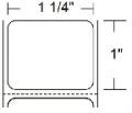 10008404 Zebra Z-Xtreme 5000T (4 Across) 0.9375x0.9375 Synthetic Label 4/Case   10008404