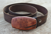 Handmade Ceanothus Totem Belt Buckle (with leather belt option)