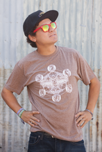 100% Recycled. 50% Recycled Polyester. 50% Recycled Cotton. Mens Brown Totem T-shirt