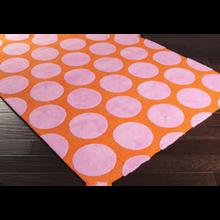 Abigail Rug - Tangerine, Pink