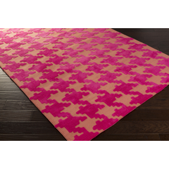 Abigail Rug   Hot Pink, Coral