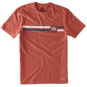 MENS T LIG GEO STRIPE