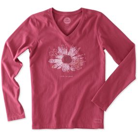 WMNS L/S LIG FLOWER TINY