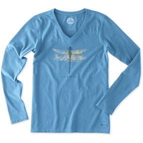 WMNS L/S LET FLY DRAGONFLY