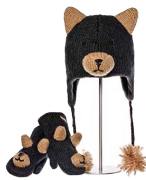 BLACK BEAR HAT ADULT