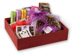 Red Silk Collection - Chocolate Gift Basket