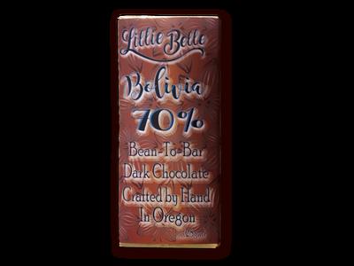 Little Lillie Mini Boliva 70% Bean to Bar Dark Chocolate