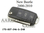 New Beetle Key 1T0-837-246-INB with remote (1T0-837-246-INB + AAR-remote