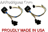 (2) Brand New, Complete VW MKIV Golf Headlight Wiring Harness 1999.5 - 2005 Genuine OE Components - back