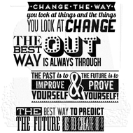 Tim Holtz Cling Rubber Stamp Motivation 2 (CMS290)