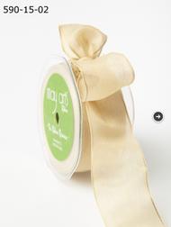 """May Arts - Soft Semi-Sheer Ribbon 1.5"""" - Champagne"""