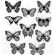 Tim Holtz Cling Rubber Stamp Flutter