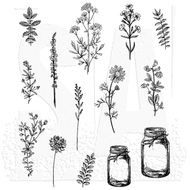 Tim Holtz Cling Rubber Stamp Flower Jar (CMS297)