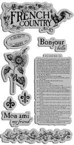 Graphic 45 FRENCH COUNTRY CLING STAMP 1