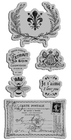 Graphic 45 FRENCH COUNTRY CLING STAMPS 3