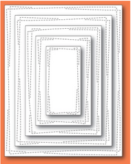 Memory Box Die - Wrapped Stitch Rectangles craft die - 30094