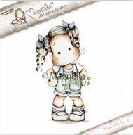 Magnolia Stamps Country Girl 2017 - Tilda With Flowers In Her Pocket