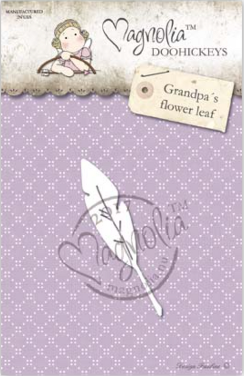 Magnolia Stamps DooHickey - Country Girl 2017 - Grandpa's Flower Leaf