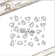 Magnolia Stamps Yay It's Your Birthday 2017 - Heart Flower Background