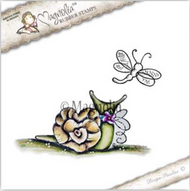 Magnolia Stamps Yay It's Your Birthday 2017 - Love Snail With Dragonfly