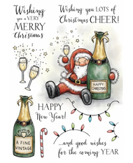 Wild Rose Studio - A5 Stamp - Boozy Santa - PreOrder (AS005)
