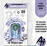 Art Impressions - Watercolor Cling Rubber Stamp - Wooden Door (AI4702)