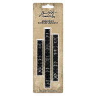 Tim Holtz Idea-ology Metal Ruler Measurements 3/Pkg