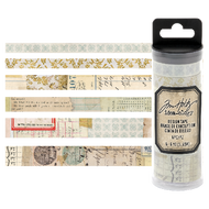 Tim Holtz Idea-Ology Design Tape 6/Pkg Salvaged