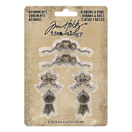 Tim Holtz Idea-Ology Metal Adornments Ribbons & Bows