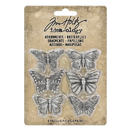Tim Holtz Idea-Ology Metal Adornments Butterflies