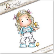 Magnolia Stamps Sunbeam - Tilda With Little Chickens