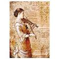 Stamperia - Rice Paper Napkin Packed- Steampunk Woman with Violin