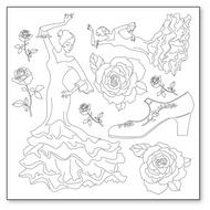 Stamperia - Silhouette Art Napkin - Flamenco