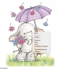Wild Rose Studio - Bunny With Umbrella Clear Stamp (CL514)