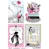 Ciao Bella - Italian Luxury - Rice Paper - Shoes Ephemera Cards