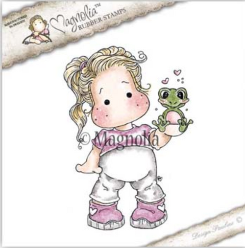 Magnolia Stamps Class Trip - Tilda With Froggy