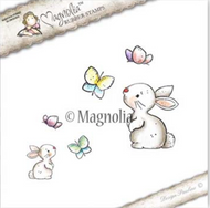 Magnolia Stamps Tilda In Wonderland - Rabbit With Butterflies