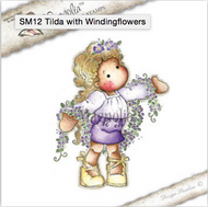 Magnolia Stamps Tilda With Winding Flowers