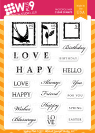 Wplus9 - Spring Post Rubber Stamp